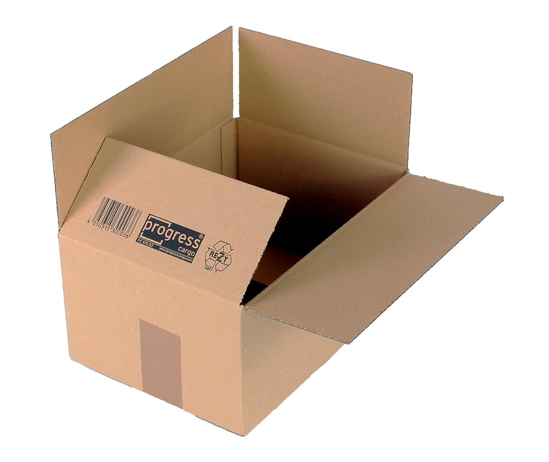 confezione da 20 Cartone ondulato pieghevole colore: Marrone progressCARGO PC K10.03 formato DIN A4 con singola ondulazione 304 x 217 x 150 mm