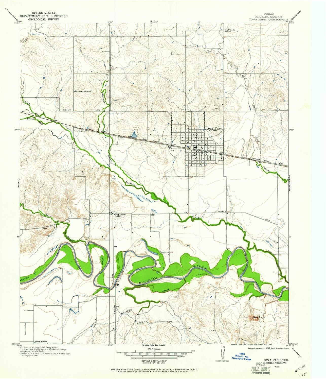 Amazon Com Yellowmaps Iowa Park Tx Topo Map 1 24000 Scale 7 5 X