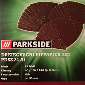 Schleifpapier Set 24 Teilig Pdsz 24 A1 Lidl Parkside Mit