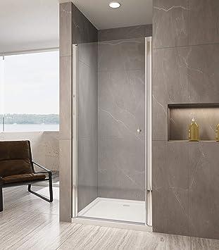 Duschkabine Duschabtrennung Schwingtür Nischentür NANO GLAS Duschwand Dusche