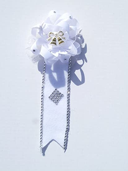 bridal shower corsage doves with wedding bells theme white