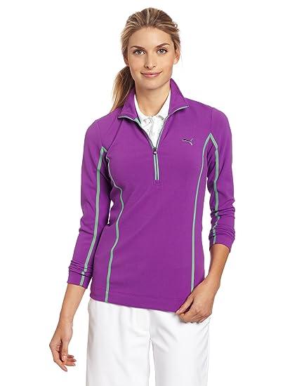 Amazon.com   Puma Golf NA Women s Monoline 1 4 Zip Top 5f092f1396