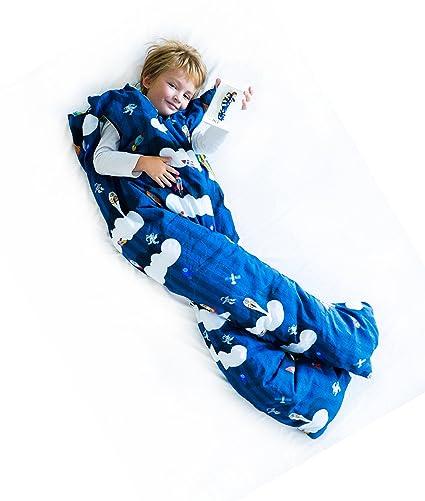 Norkid ORIGINAL. Sacos de dormir infantiles con piernas. Talla 3 años. Relleno FINO