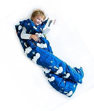 Norkid ORIGINAL. Sacos de dormir infantiles con piernas. Talla 3 años. Relleno FINO, Modelo ESPACIO.: Amazon.es: Hogar