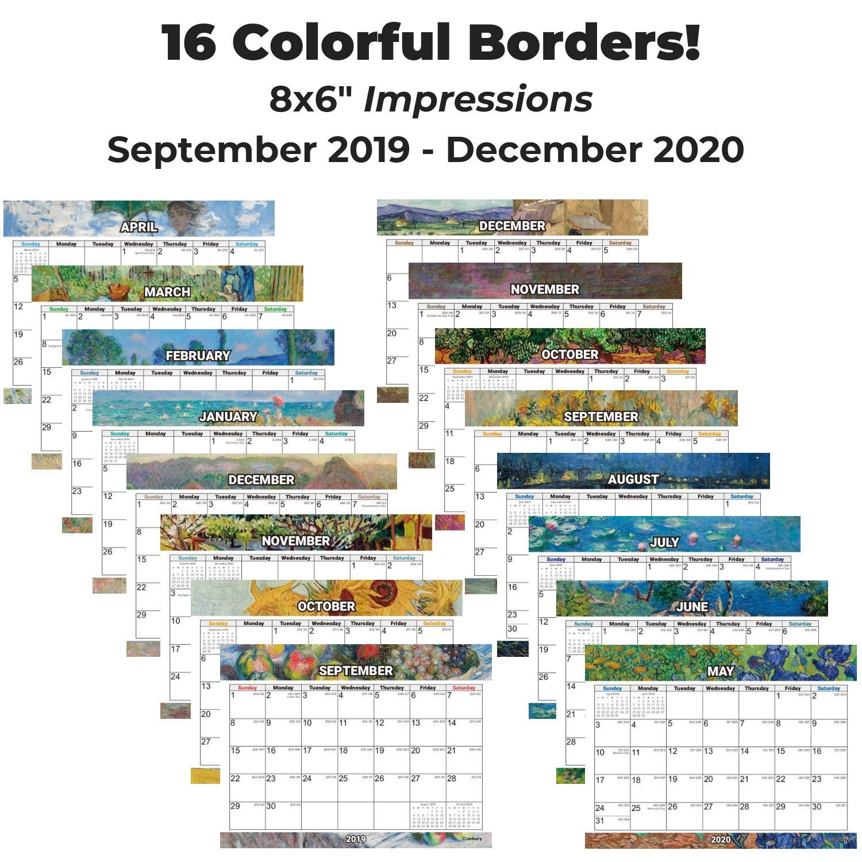 Amazon.com: Calendario de escritorio pequeño 2020, 8 x 6 ...