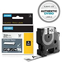 DYMO Rhino Flexible Industrial Nylon Label, 19mm, Black/White