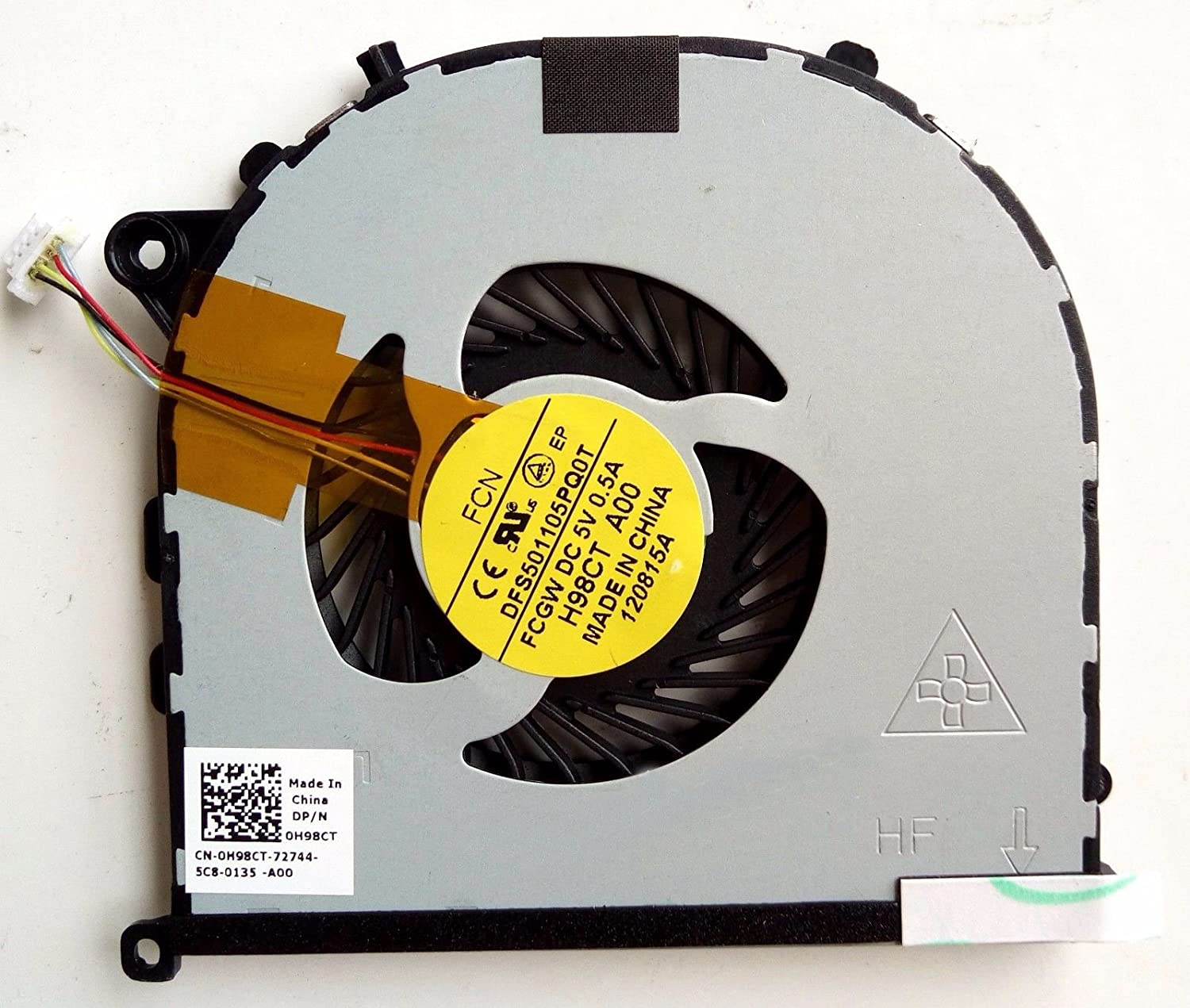 HK-part Replacement Fan for Dell XPS 15 9530 Precision M3800 series Cpu Cooling Fan Right Side DP/N 0H98CT 3-Pin 3-Wire