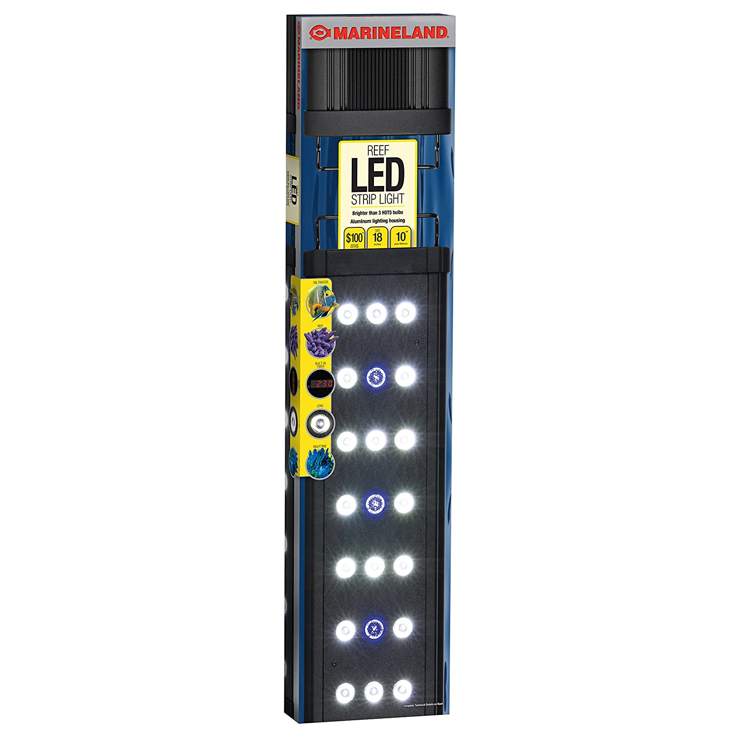 Amazon marineland ml90621 00 reef led strip light 24 inch amazon marineland ml90621 00 reef led strip light 24 inch pet supplies mozeypictures Image collections