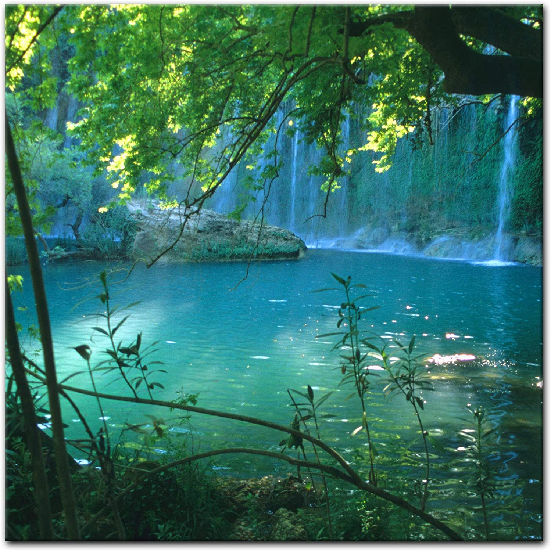 Bilderdepot24 Cuadros en Lienzo Kursunlu Cascadas - Turquía - 40 x 40 cm - Listo tensa, Directamente Desde el Fabricante: Amazon.es: Hogar