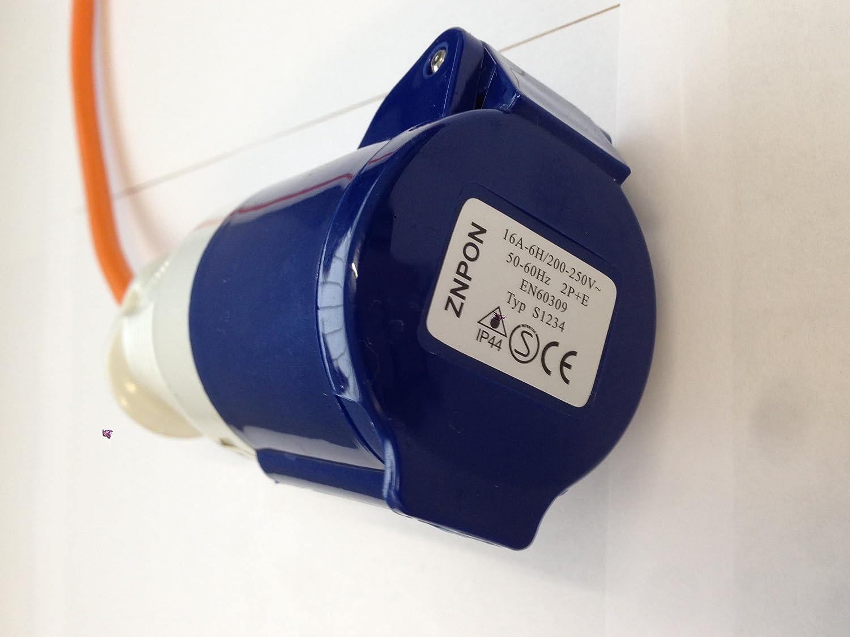 CE Approved Motionperformance Essentials UK Mains 230v 2 Foot Caravan Camping Hook Up Adaptor Plug