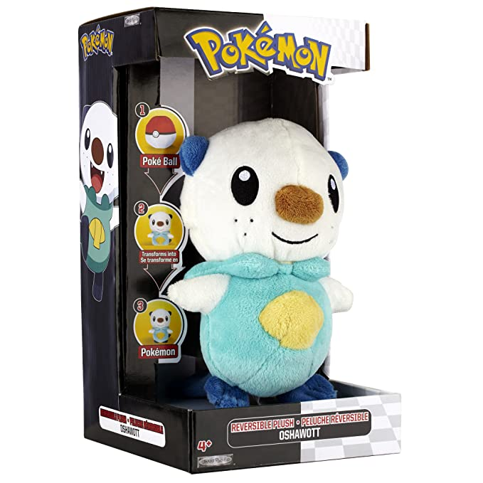 Amazon.com: Pokemon Black And White Plush By Jakks - Reversible Pokeball Series 1 - Oshawott/Mijumaru: Toys & Games