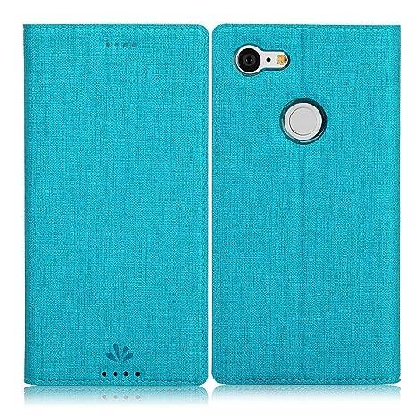 Eastcoo Google Pixel 3 Hülle, Flip Folio Wallet Leder Smart Case Tasche Schutzhülle Handyhülle mit [Kartenfach][Standfunktion