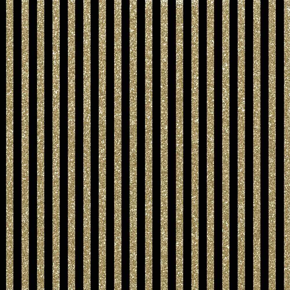 HUAYI 5x7ft Gold Heart Backdrop Black Stripes Newborn Photography Props Baby Photo Booth Background Studio Picture Cotton Polyster Xt-5686