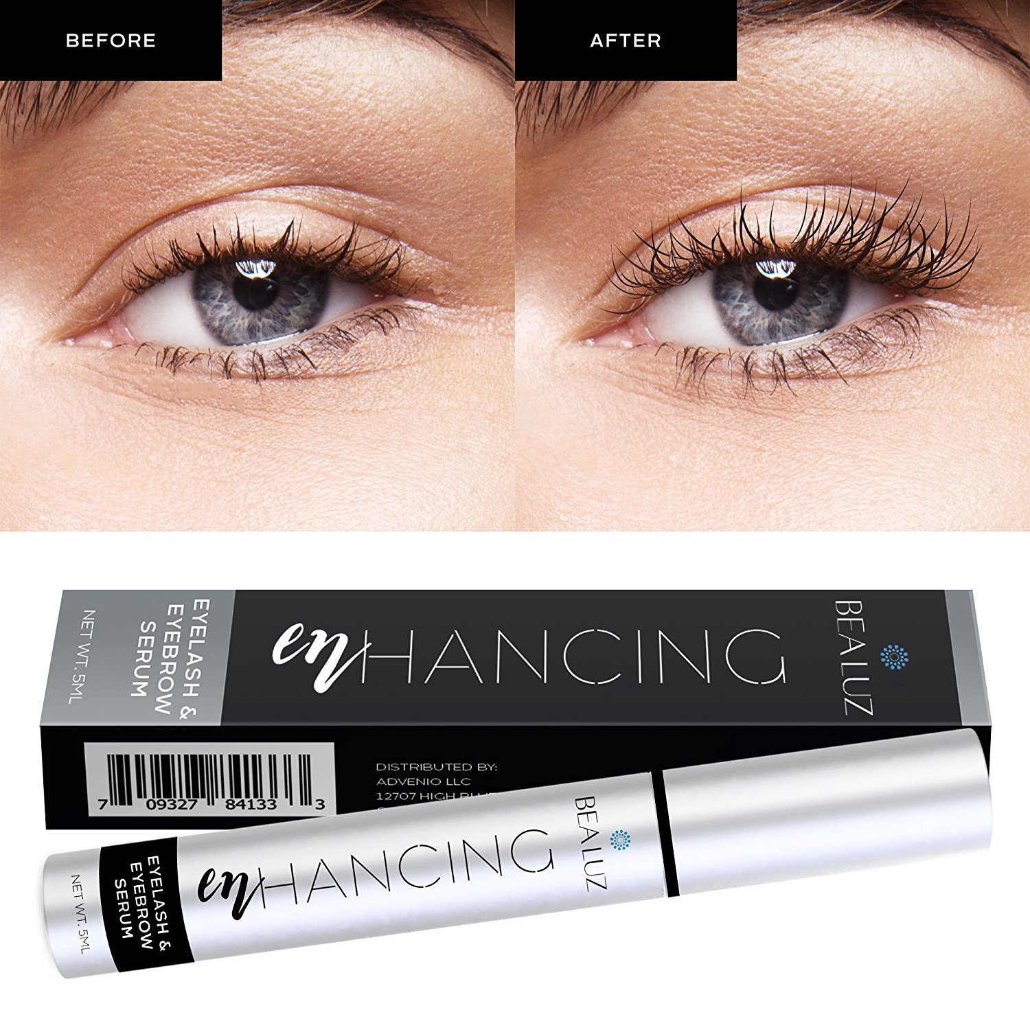 Amazon.com: Advanced Eyelash Growth Serum Eyebrow and Eyelash Enhancer 5ML 3 Month Supply: Beauty