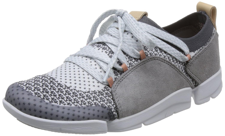 Clarks Tri Amelia, Zapatillas para Mujer 37 EU|Gris (Grey Combi)