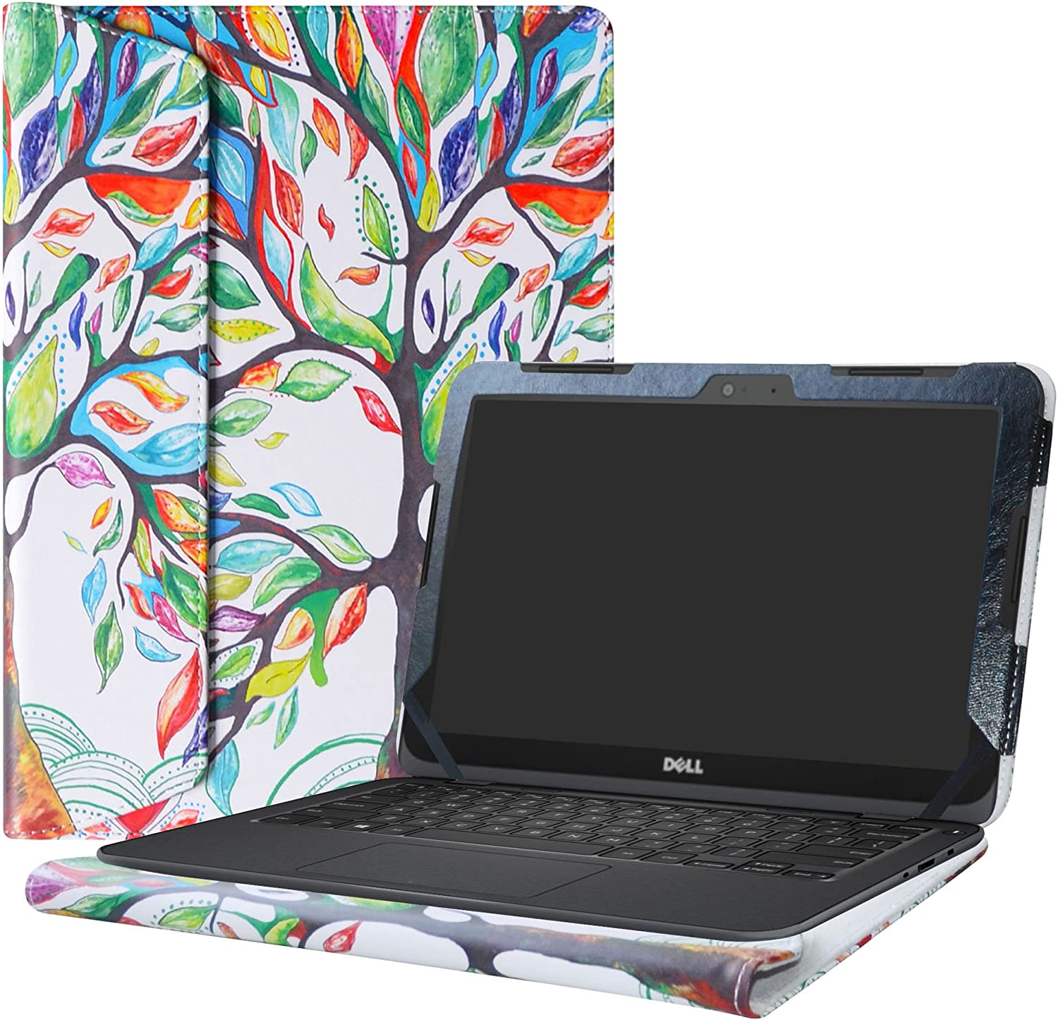"Alapmk Protective Case Cover for 11.6"" Dell Inspiron 11 3180 3162 3164 Series Laptop(Warning:Not fit Inspiron 11 3137 3138 3147 3148 Series),Love Tree"