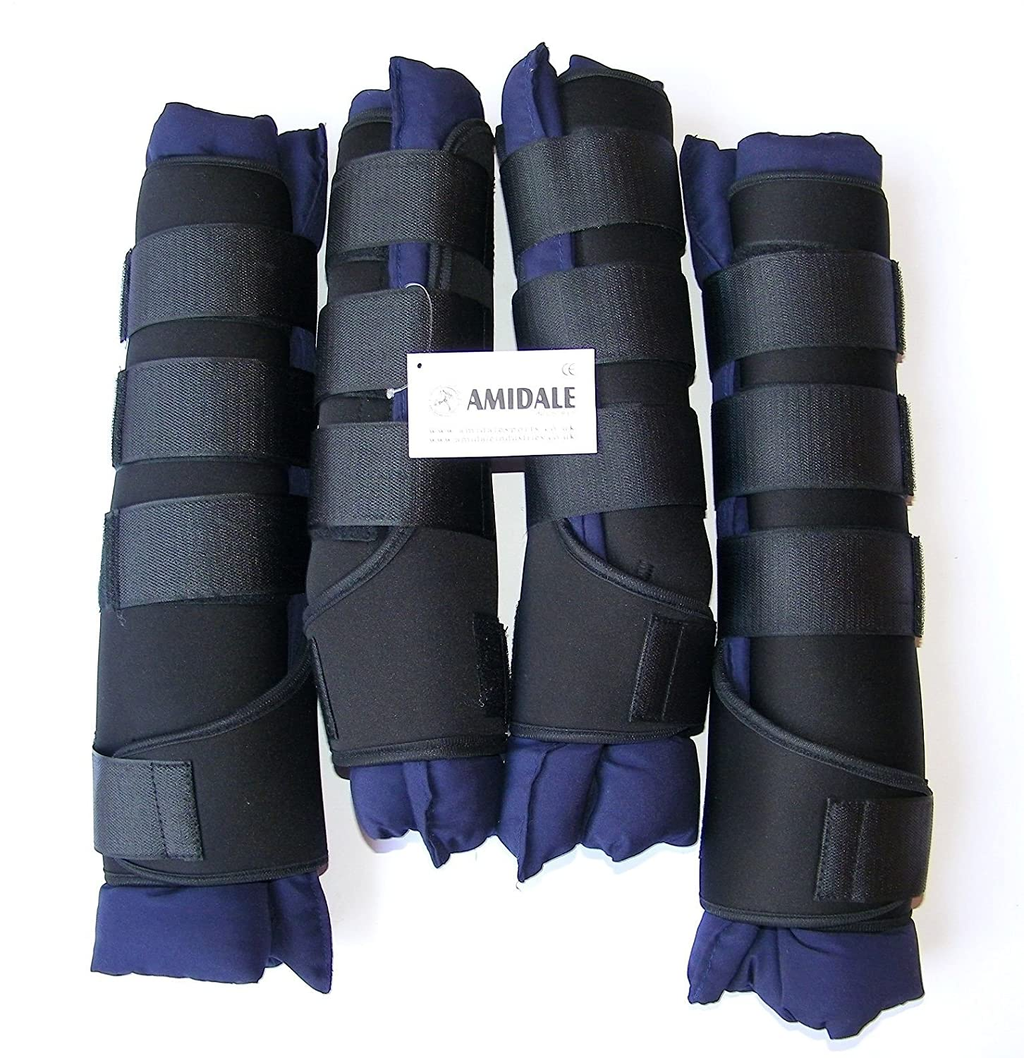 PURPLE SET OF FOUR AMIDALE SPORTS BNWT HORSE STABLE BOOTS // WRAPS