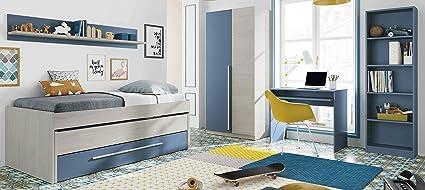 Miroytengo Pack mobiliario Dormitorio Juvenil Completo Color ...