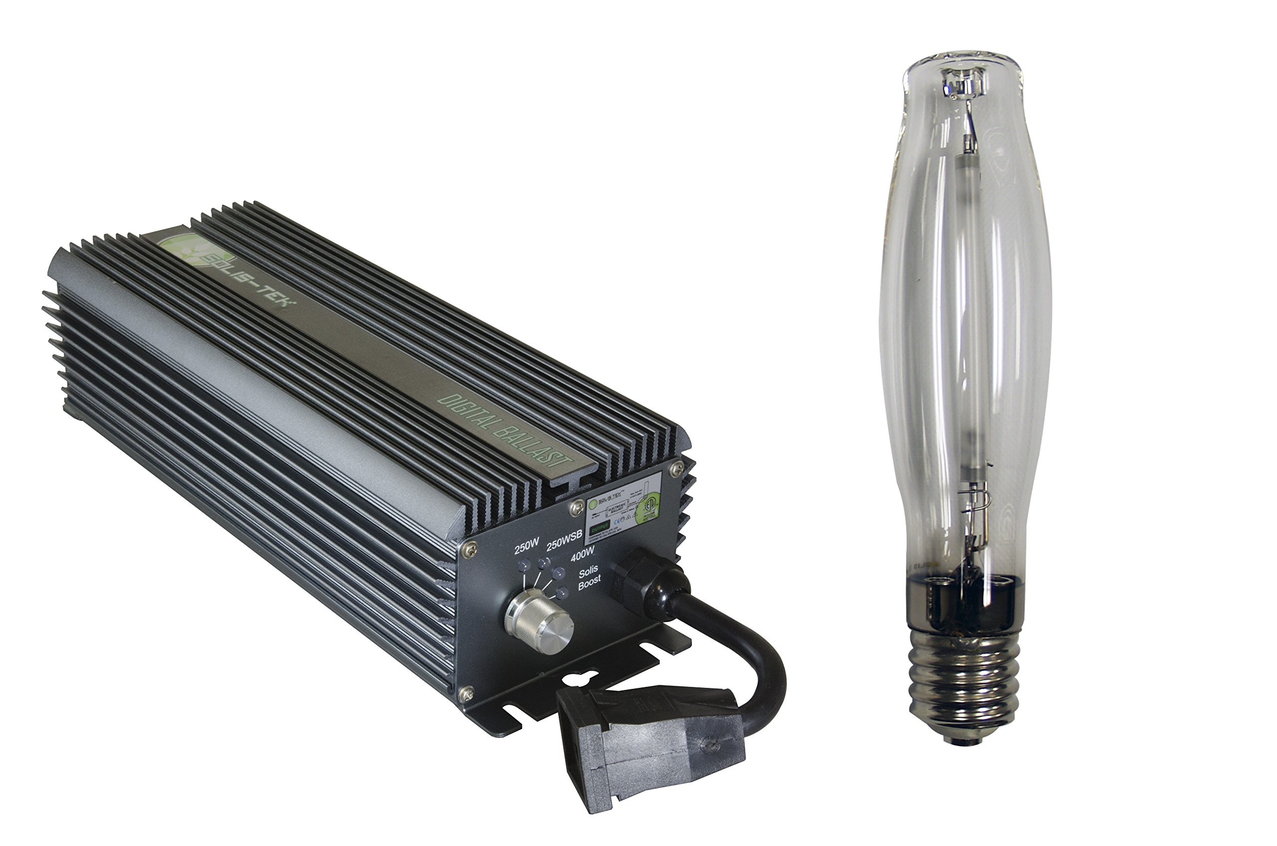SolisTek 400 watt Digital Ballast with Hps Grow Light by Solis Tek