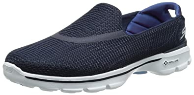 Skechers Go Walk 3, Damen Low-Top Sneaker, Blue (NVW),