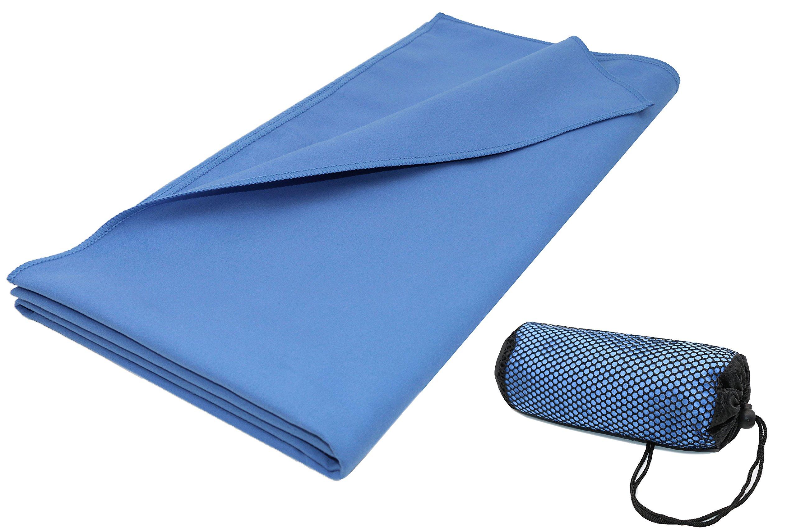 ZOLLNER Toalla de Microfibra Grande 90x180 cm, Azul product image
