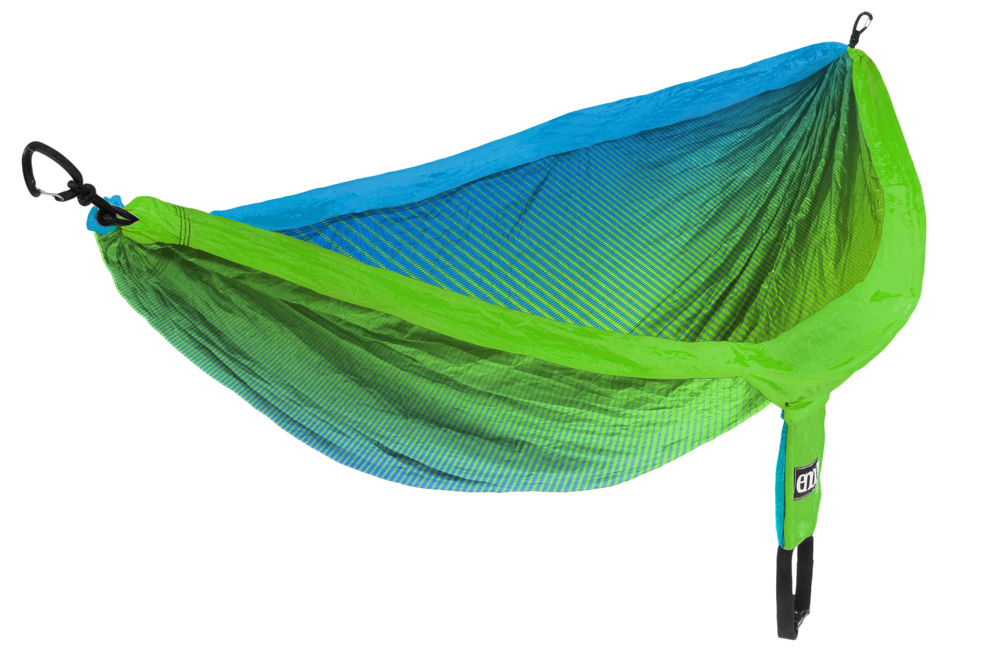ENO - Eagles Nest Outfitters DoubleNest Print Portable Hammock for Two, Fade Teal/Chartreuse by ENO