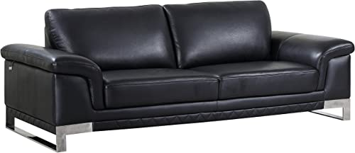Blackjack Furniture 411 Weston Collection Italian Leather Living Room