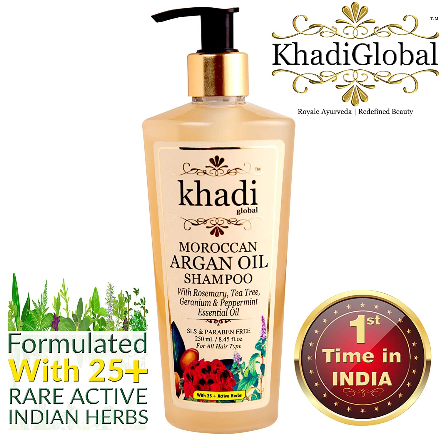 Khadi Global Moroccan Argan Hair Shampoo - Herbal shampoo in India