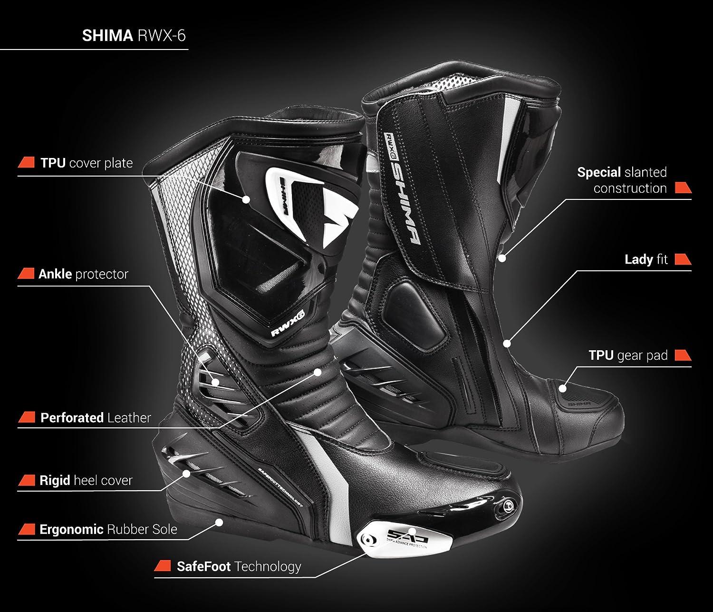 Shima RWX-6 Women 36-40 Damen Vintage Retro Road Sportstiefel Aus Leder Motorradstiefel Frauen Sport Sommer Wei/ß