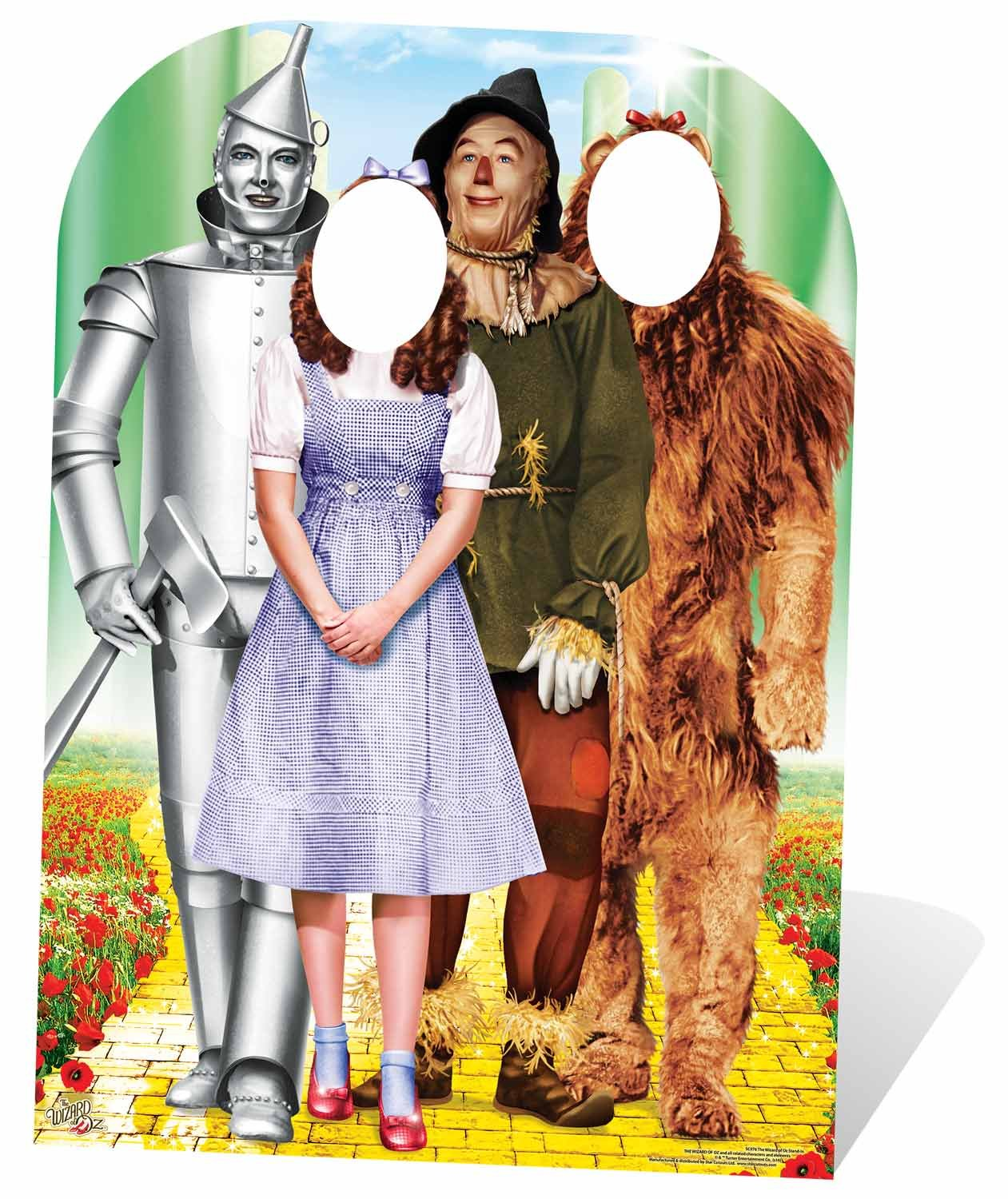 Star Cutouts Wizard of OZ Stand-in Emerald City Life Size Cardboard Cut Out with Mini Table top, Multi-Colour, 130 x 95 x 130 cm