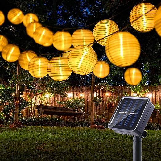 BrizLabs Farolillos Solares Exterior 6m 30 LED Guirnaldas Luces ...