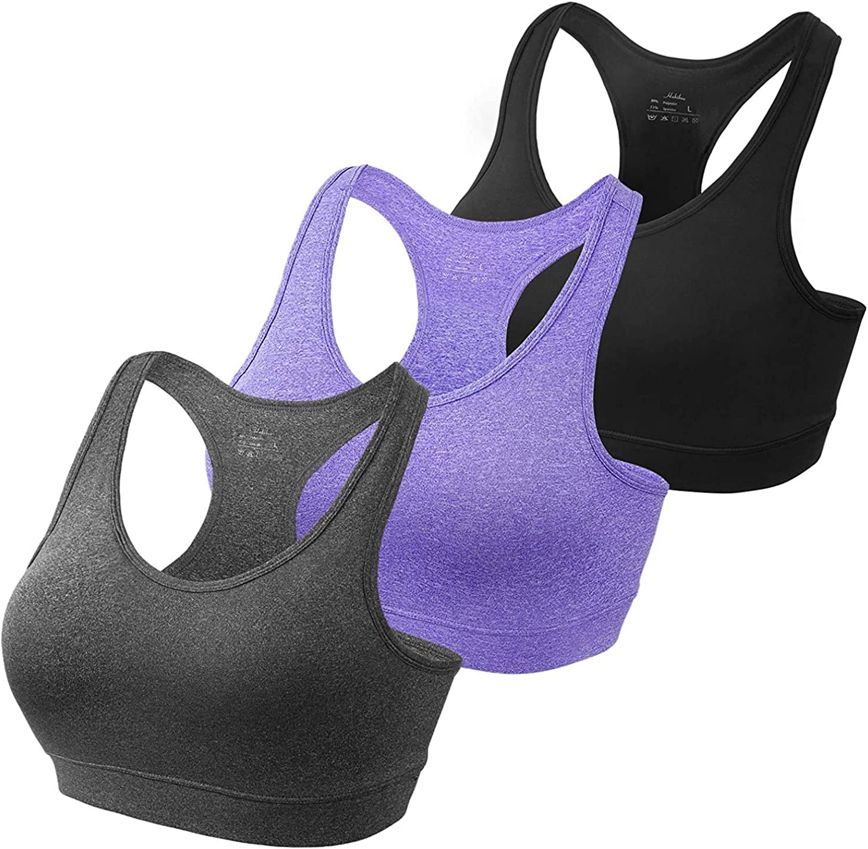 HBselect Sujetador Deportivo Mujer Material Cómodo Sin Costuras Almohadilla Desmontable para Gimnasio Yoga Bailar