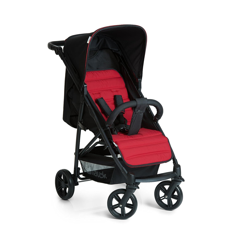 Hauck Rapid 4 - Silla de paseo deportiva para bebes de 6 meses hasta 15 kg, con barrera delantera, sistema de arnés de 5 puntos, ruedas desmontables, respaldo reclinable, plegable, Caviar/Black 148303