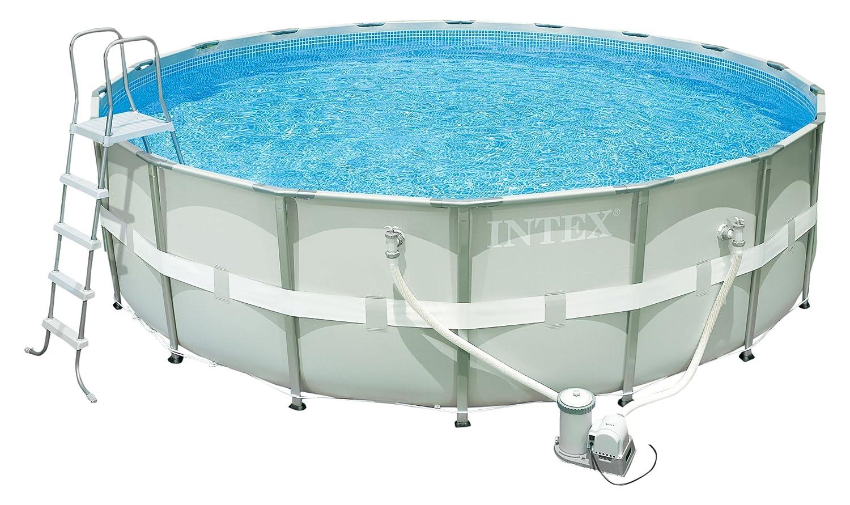 Intex Ultra Frame Pool Set, Ø 488 x 122 cm, mit Filterpumpe: Amazon ...