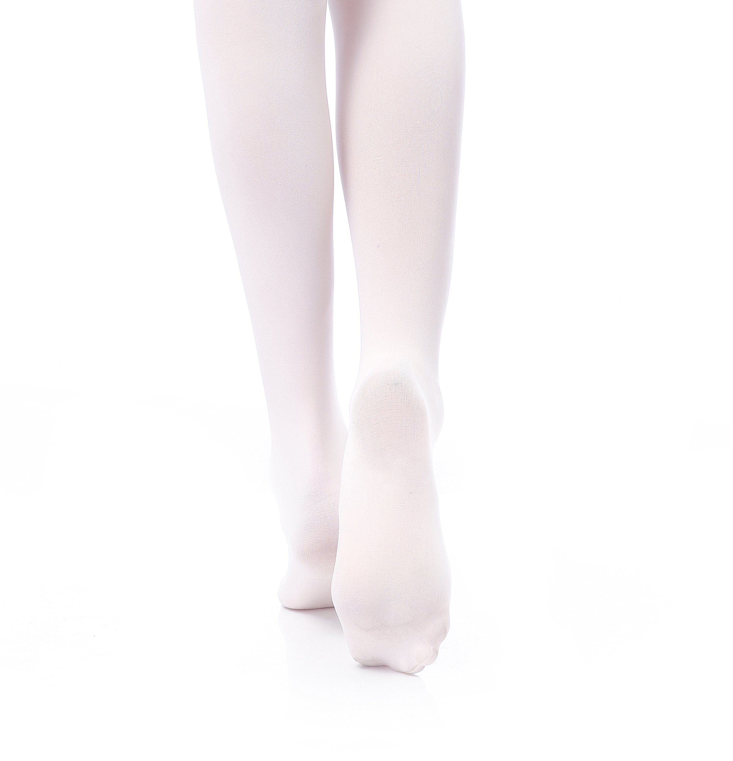 Tights for Girls Ballet Leotards Toddler Dance Leggings Pants Footed Kids (Ballet Pink - 2 Tights, 2-5 Years) by DIPUG (Image #7)