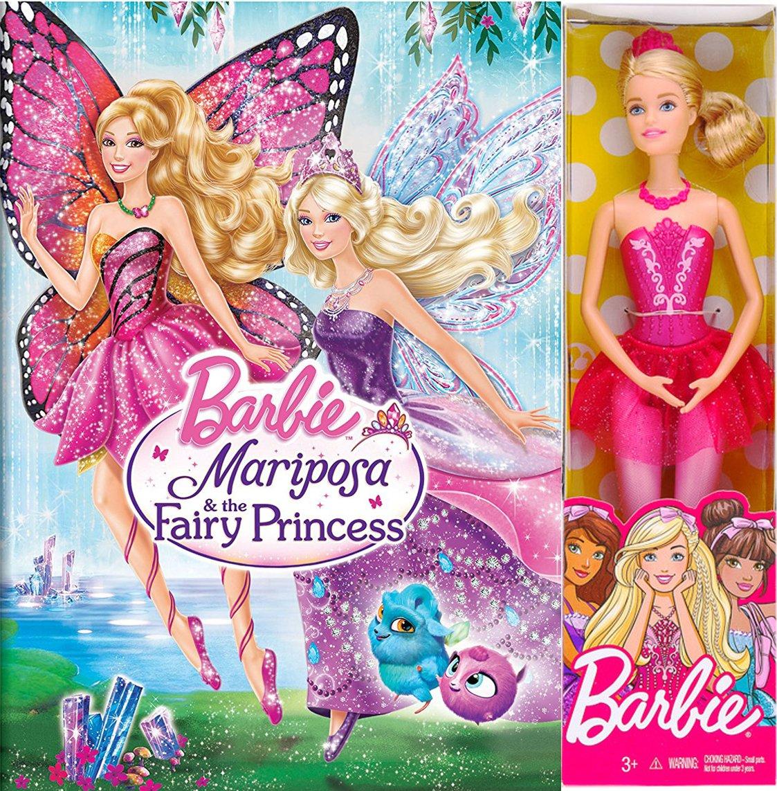 amazon com barbie girls mariposa the fairy princess animated movie barbie doll set pink ballerina 12 barbie bundle various various movies tv barbie doll set pink ballerina