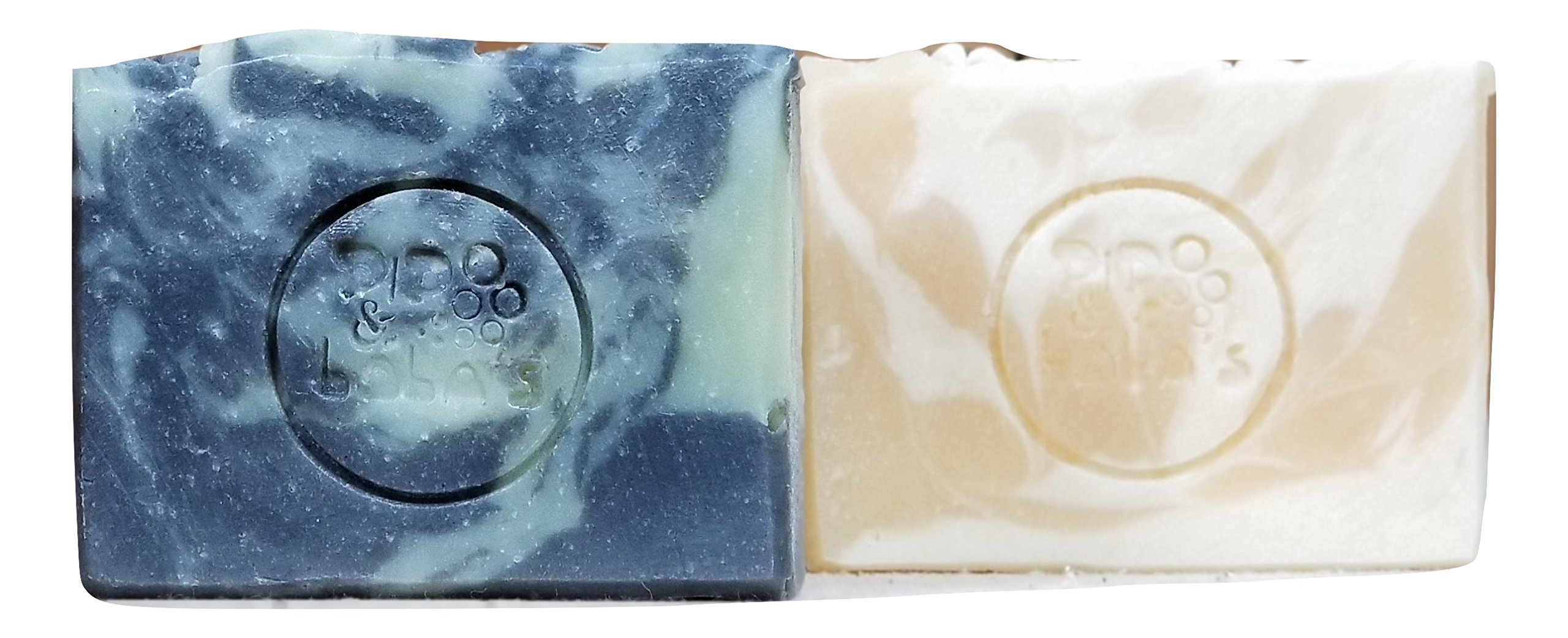 Othello - Desdemona Lovers Pack - Amber & Mahogany/Peach scented two pack handmade vegetarian soaps - Soap Goddess Loves Shakespeare Soap