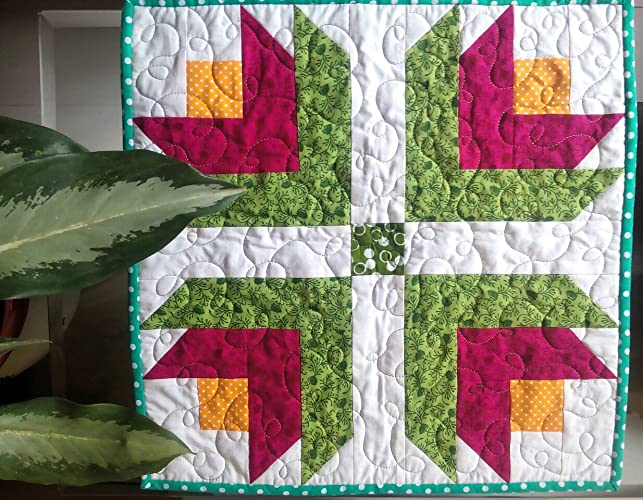 Amazon Pot Holder Mini Quilt Tulip Quilt Flower Quilt