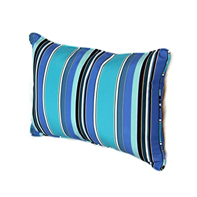 Comfort Classics Inc. 22W x 14D x 4H Sunbrella Outdoor Lumbar Pillow Made in USA (Dolce Oasis) : Garden & Outdoor