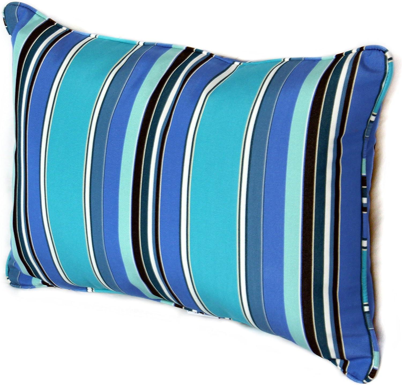 Amazon Com Comfort Classics Inc 22w X 14d X 4h Sunbrella Outdoor Lumbar Pillow Made In Usa Dolce Oasis Garden Outdoor