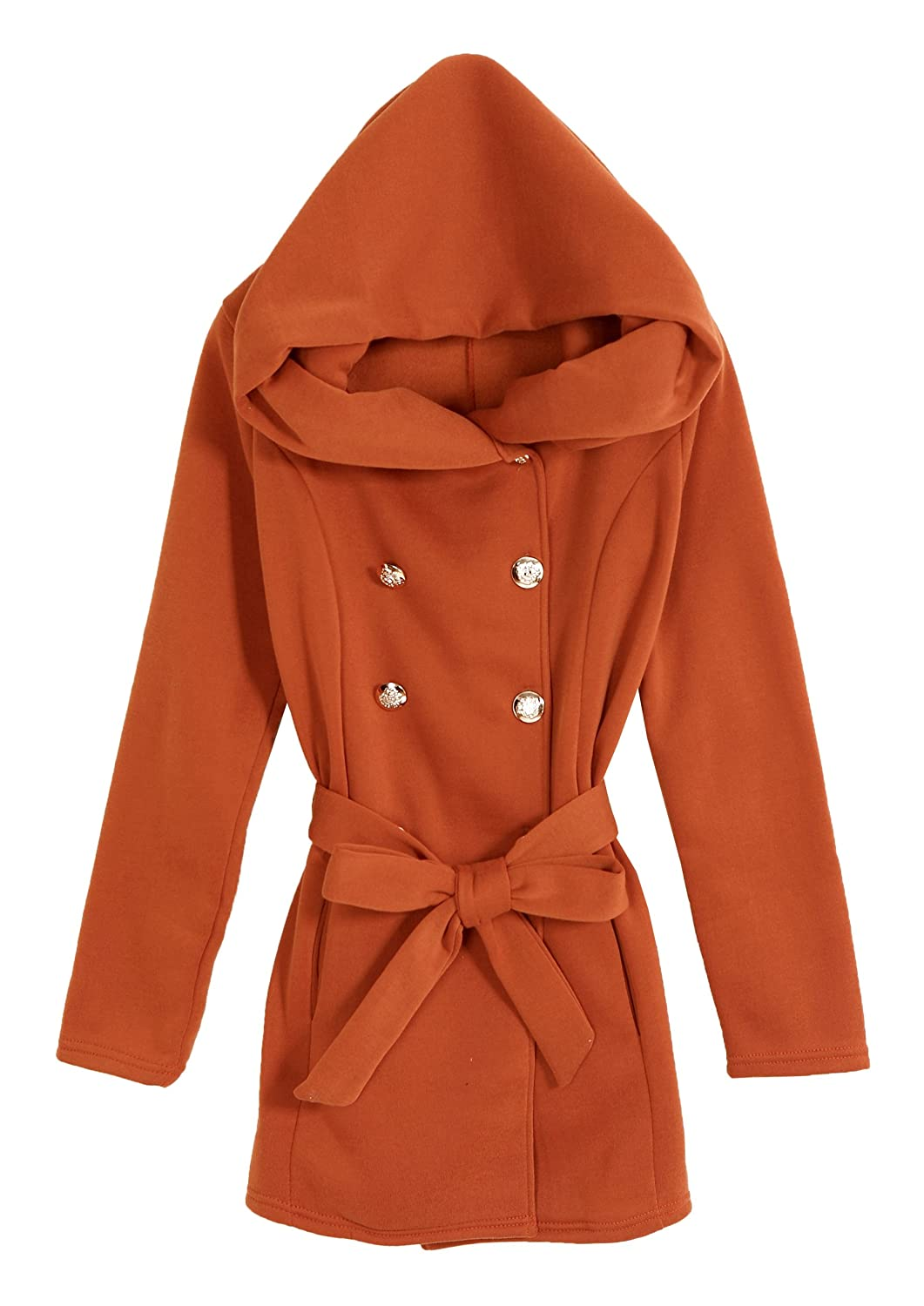 TOKYO FASHION Women's Hooded Buckled Cardigan Cotton Coat