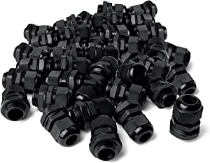MGI SpeedWare Strain Relief NPT Nylon Cord Grip Cable Glands - 100 Pack (1/2