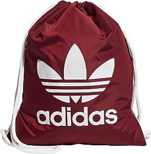 adidas Originals Unisex Trefoil Sackpack, Collegiate Burgundy/White, ONE SIZE