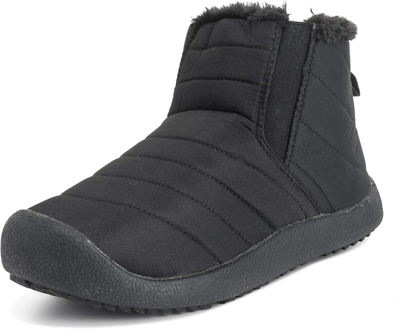 Adultos Unisex Durable Piel Sintética Invierno Calentar Al Aire Libre Flat para Caminar Zapatos
