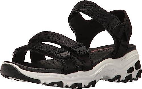 Aislante rasguño Salón de clases  Skechers D'Lites Fresh Catch Mujer Negro Sandalias: Skechers: Amazon.es:  Zapatos y complementos