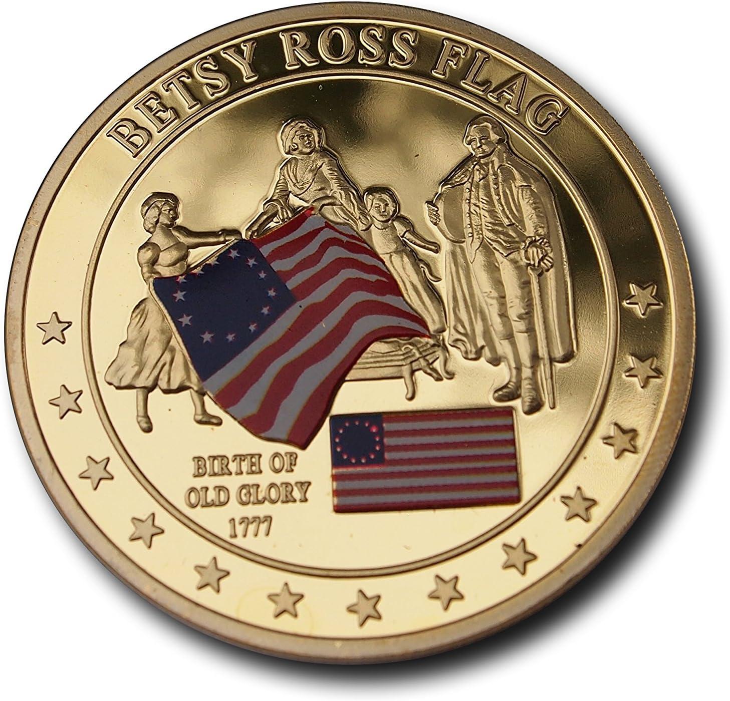 BETSY ROSS bandera conmemorativa moneda Memorable Token de primera ...