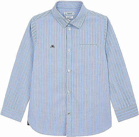 Mayoral, Camisa para niño - 4142, Azul: Amazon.es: Ropa y accesorios