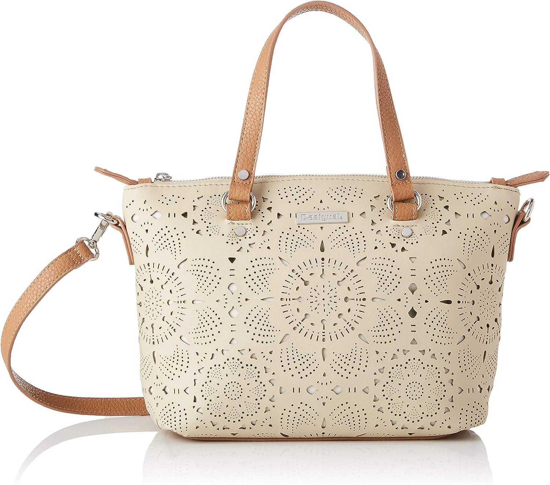 Desigual Bag Cronos Gela Women Borse a tracolla Donna, Beige, 10.5x22x25 cm (B x HT)
