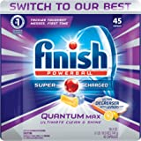Finish Quantum Max Ultra-Degreaser w. Lemon, 225ct, Dishwasher Detergent Tablets (5X45ct)