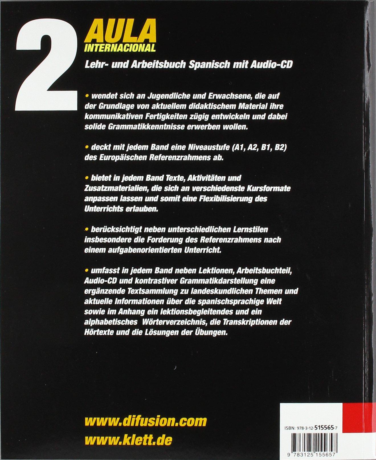 Aula 2 Lehr Und Arbeitsbuch Audio Cd Klettausgabe Amazonde